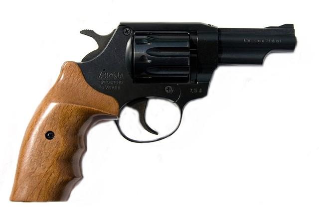 Револьвер под патрон флобера SNIPE 3 (орех)