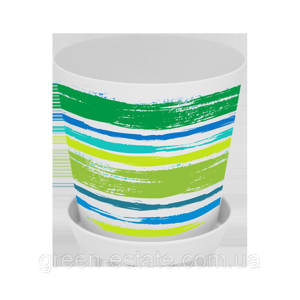 Вазон Деко 1,8 л зелені фарби