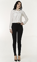 Женские джинсовые лосины с кружевными вставками №1737, фото 1