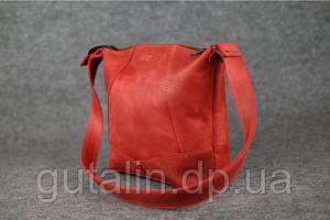 Женская сумка ручной работы из натуральной кожи Comfort цвет красный