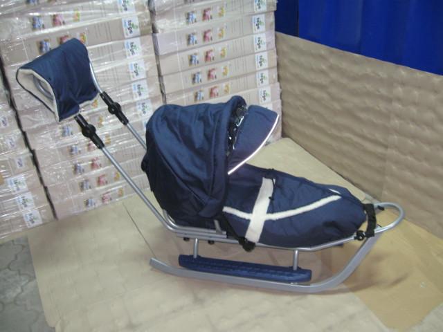 Санки Adbor Piccolino комплект deLux (серый з синим)