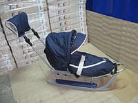 Санки Adbor Piccolino комплект deLux (серый з синим), фото 1