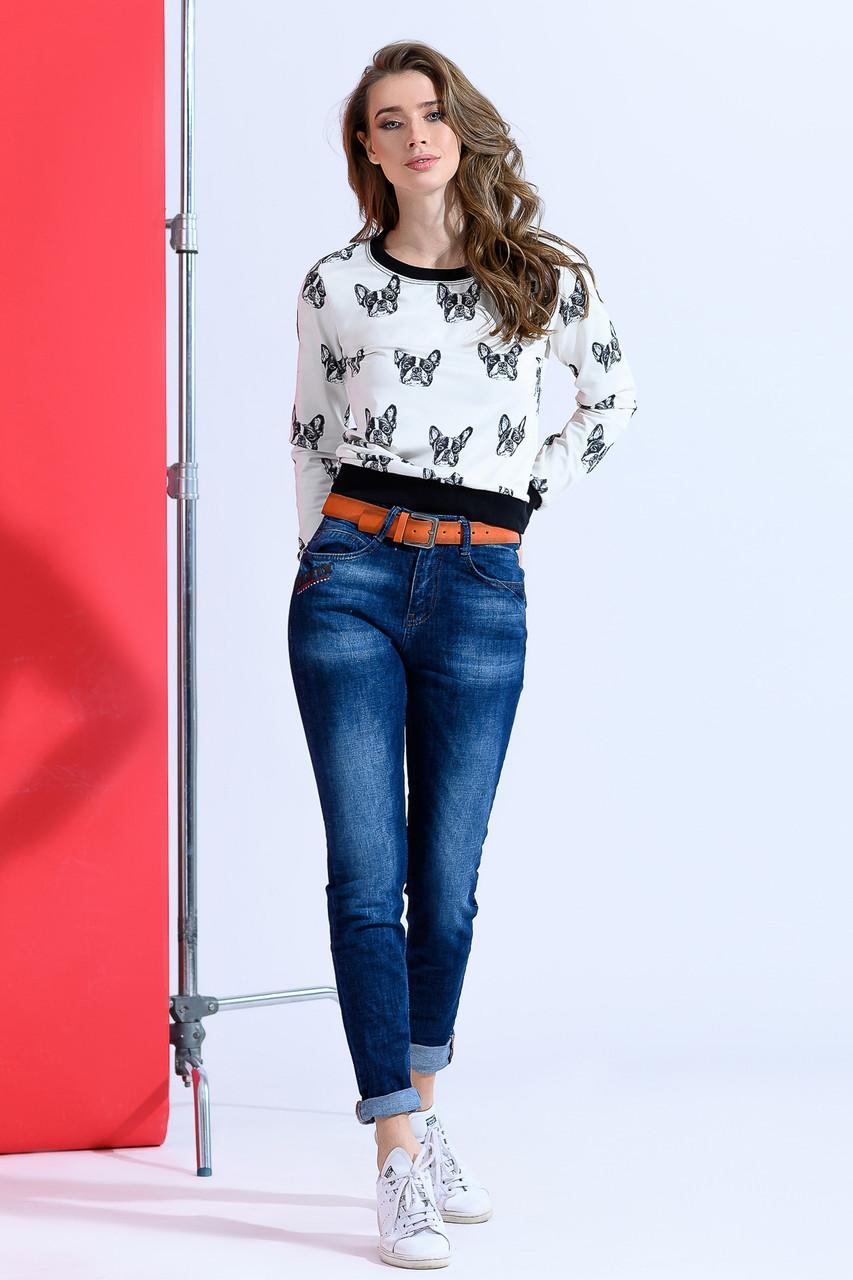 Турецкие джинсы прямого кроя