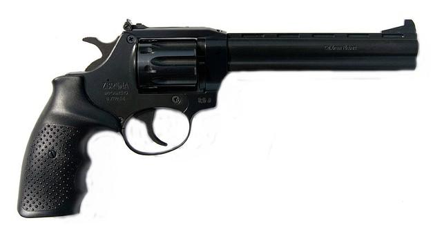 Револьвер под патрон флобера SNIPE 6 (рез. мет.)