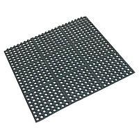 Резиновый коврик под барную стойку Beaumont напольный, черный, 90x90x1.2 см (3683)