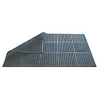 Резиновый коврик под барную стойку Beaumont напольный, черный, 150x90x1.2 см (3684)