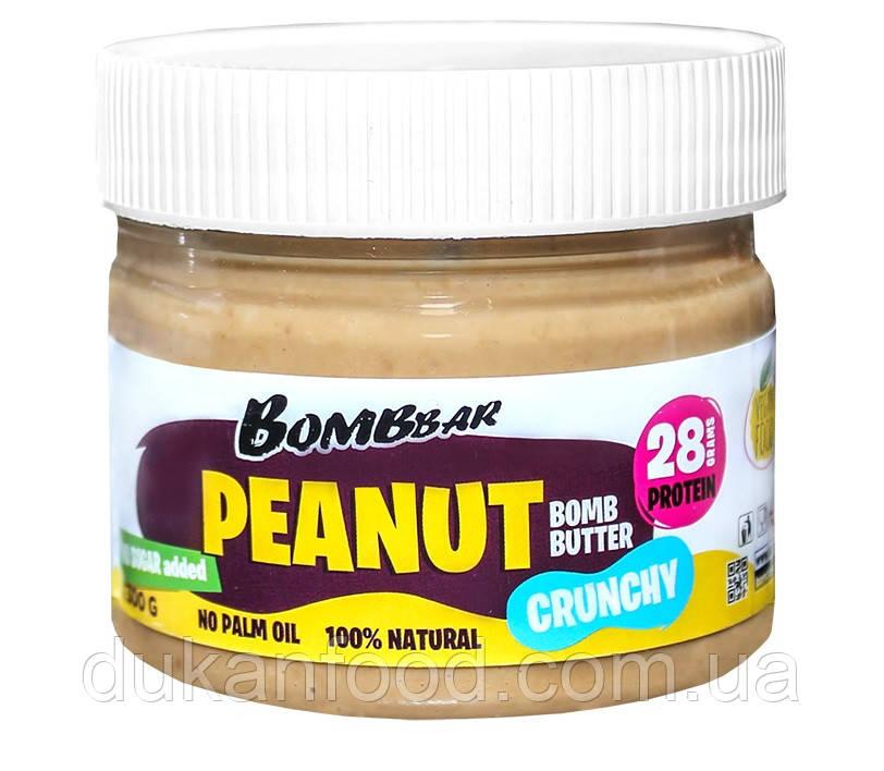 Хрустящая арахисовая паста-кранч BOMBBAR, 300 г
