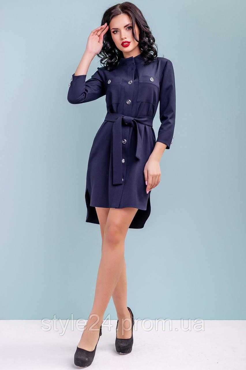Стильне жІноче плаття- рубашка на гудзики з поясом .Р-ри 44-50 ... e26e5e75c8442