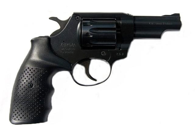 Револьвер под патрон флобера SNIPE 3 (рез. мет.)