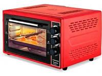Мини-печь духовка электрическая для дома ASTOR CZ 1745 R 45 л красная духовка с термостатом