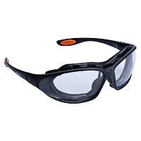 Набор очки защитные с обтюратором и сменными дужками Super Zoom anti-scratch, anti-fog (прозрачные) Sigma, фото 1