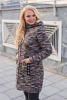 """Женский кардиган больших размеров """"Лорена 2"""", коричневый с черным"""