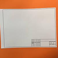 Бумага для черчения со штампом Полиграфист А3 (297*420 мм) 160 г/м2, 1 лист