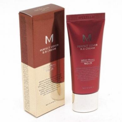 BB-крем Missha M Perfect Cover BB Cream SPF 42 PA+++( тон 21) 20 мл (473423), фото 2