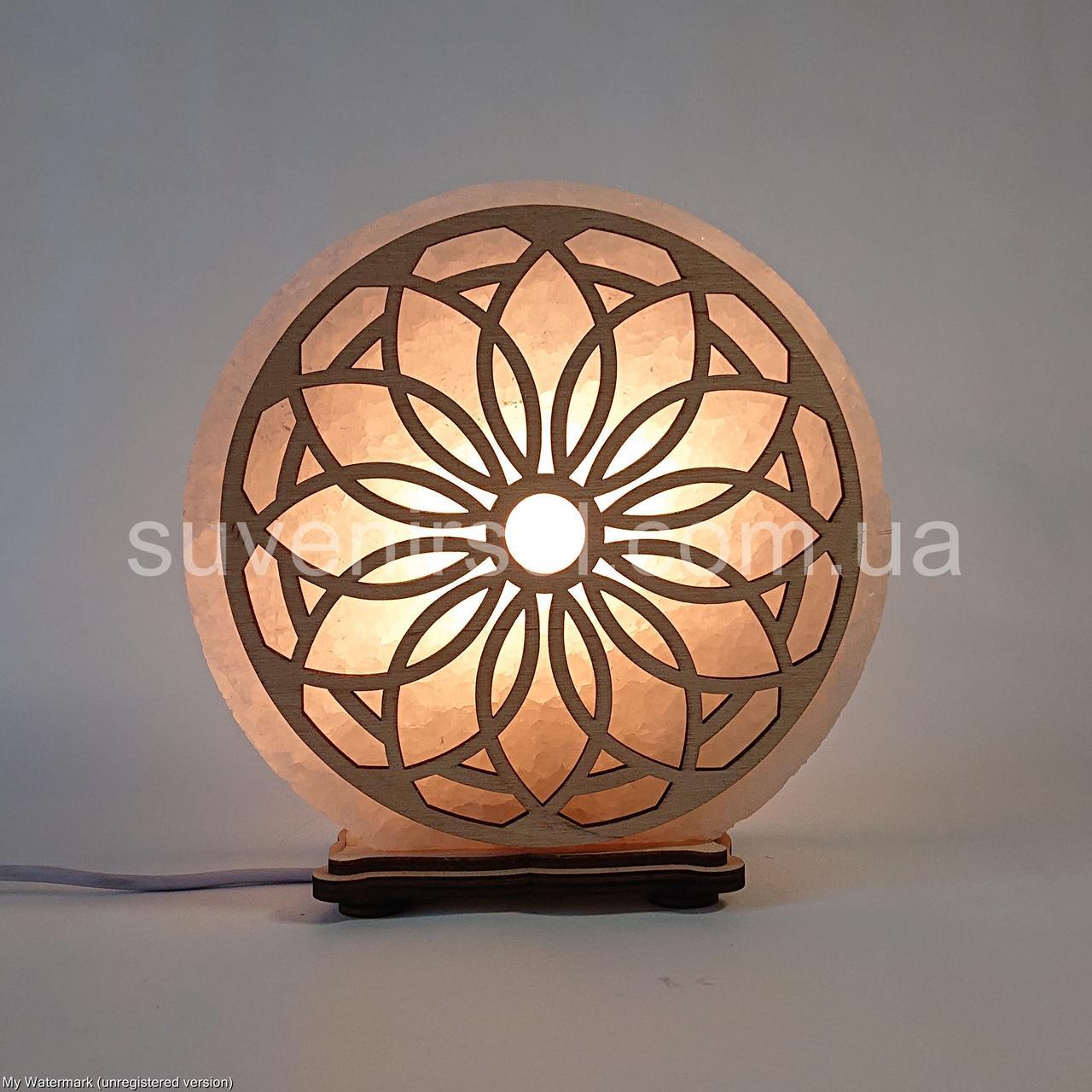 Соляной светильник круглый Солнце