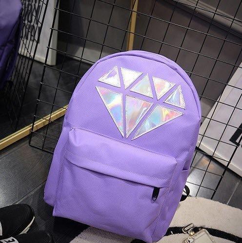 Рюкзак женский с алмазом сиреневый.