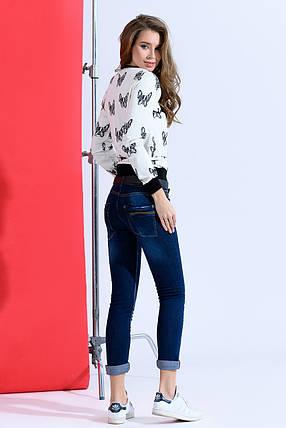 Темные джинсы с ремнем, фото 2