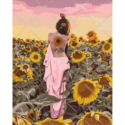 Картина по номерам Подсолнуховое счастье KHO4570 Идейка