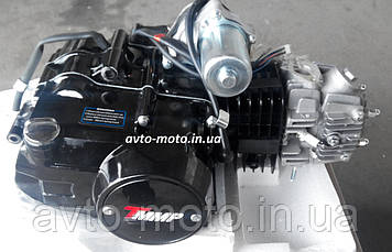 Двигун мопед Актив 125 см3 напівавтомат (циліндр алюмінієвий)