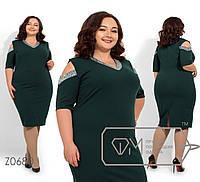 Платье с люрексовой отделкой. Большие размеры. Батал. Разные цвета.