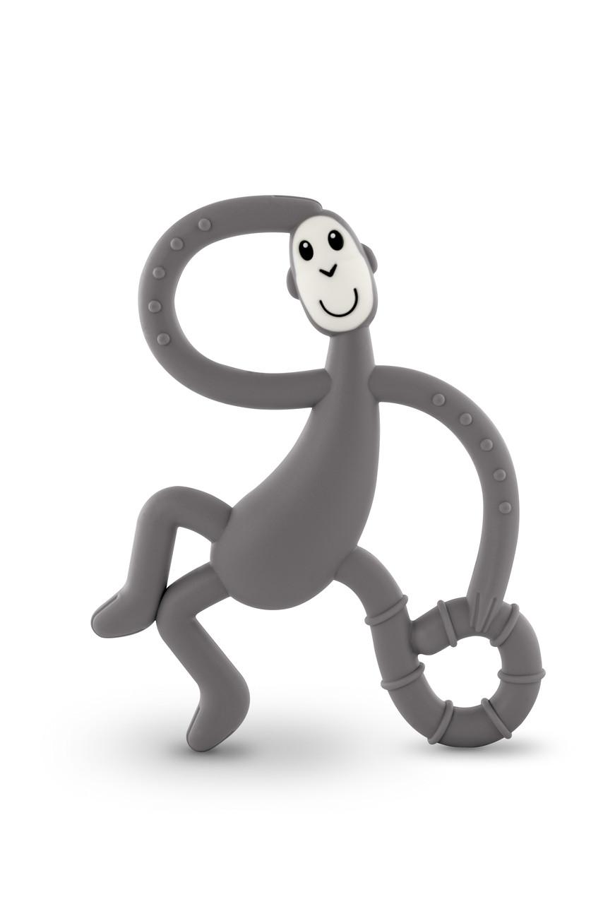 Игрушка-прорезыватель Matchstick Monkey Танцующая Обезьянка (цвет серый, 14 см)