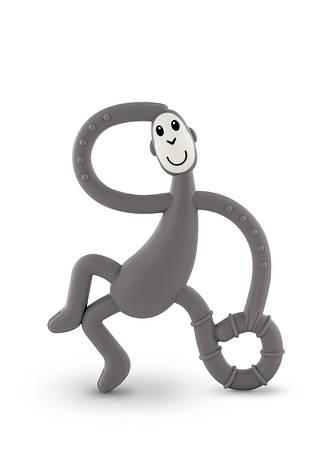 Игрушка-прорезыватель Matchstick Monkey Танцующая Обезьянка (цвет серый, 14 см), фото 2