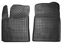 Коврики в салон Hyundai I10 (ba, ia) 2013 - черные, полиуретановые (Avto-Gumm, 11455-11564) - передний водительский + пассажирский