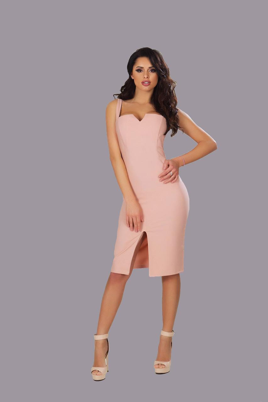 8af7eafc19d Летнее платье-футляр на бретельках