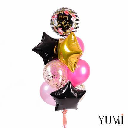 Стильная связка из гелиевых шариков для девушки, фото 2