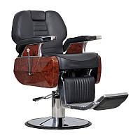 Мужское парикмахерское кресло Ambasciatori черное, фото 1