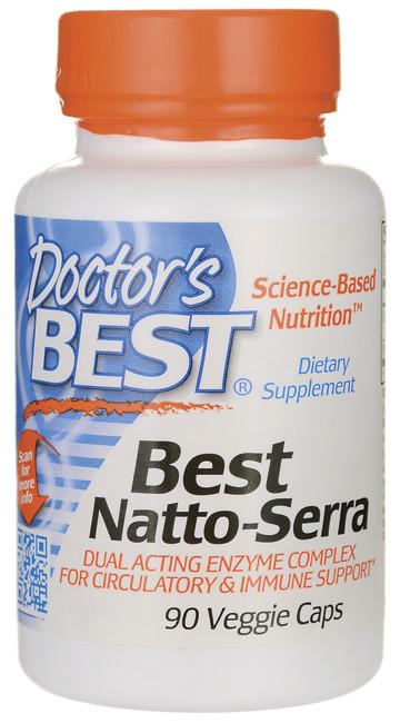 Комплекс двойного действия для улучшения кровообращения и укрепления иммунитета Natto-Serra, 90 капсул