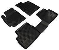 Коврики в салон Geely Emgrand X7 2012 -, черные, полиуретановые (Петропласт, PPL-10745123) - комплект (4 шт.) + перемычка