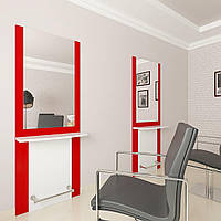 Рабочее место парикмахера Стиль, арт. М400 красное с белым