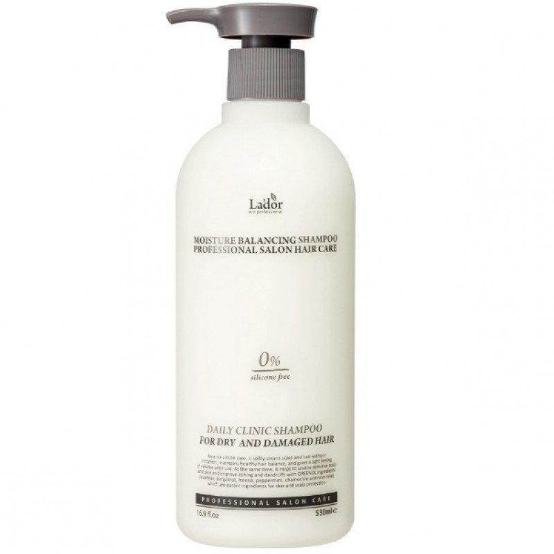 Увлажняющий бессиликоновый шампунь La'dor Moisture Balancing Shampoo 530 мл