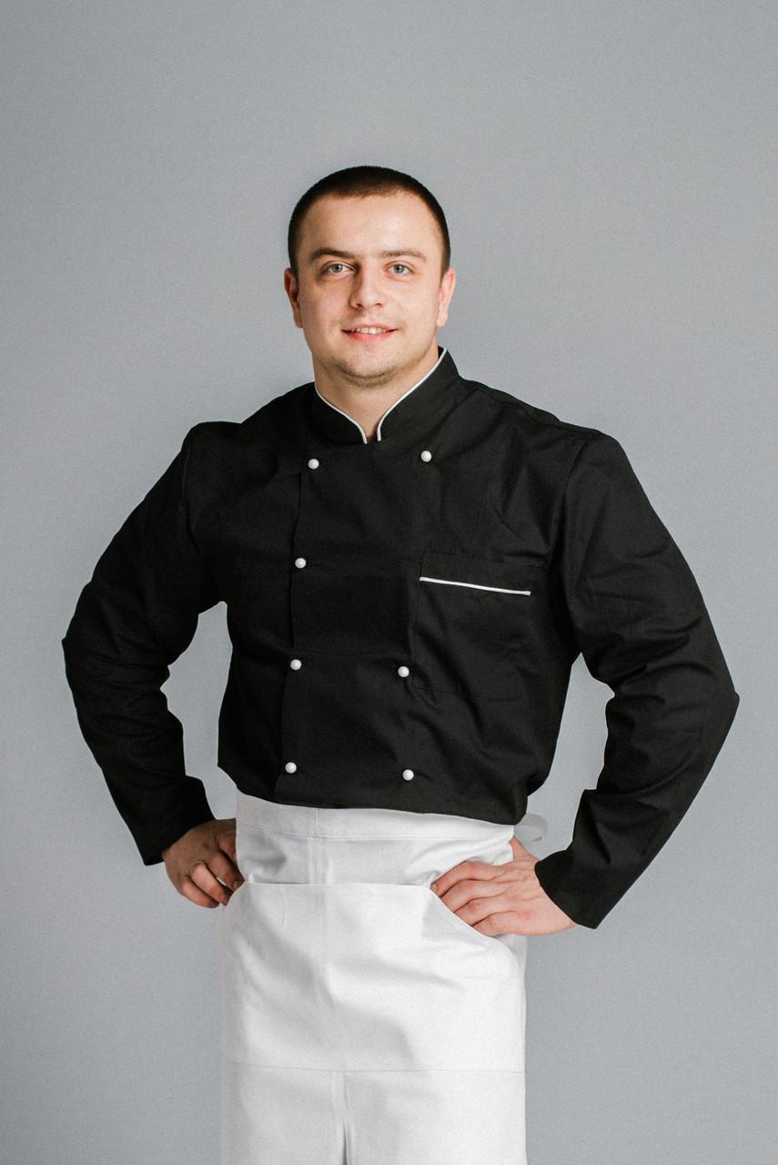 Фартук поварской /официантский от пояса в пол ВО белый