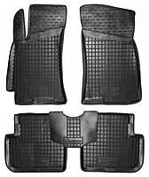 Килимки в салон Daewoo Lanos (Sens) 1997 - чорні, поліуретанові (Avto-Gumm 11146) - комплект (4 шт) + перемичка