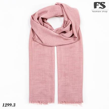 Легкий рожевий стильний шарф Моллі, фото 2