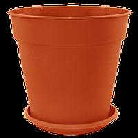 Вазон Глория 1,6 л коричневый