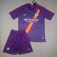 Футбольная форма Манчестер Сити резервная фиолетовая (сезон 2018-2019)