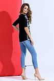 Красивая модная футболка 42-46р.(2расцв) , фото 3