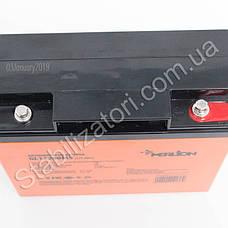MERLION GL1220M5 - 12В - 20А/ч Гелевый аккумулятор, клемма под болт, фото 3