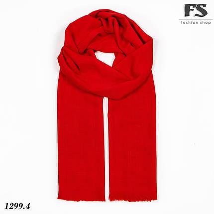 Легкий червоний стильний шарф Моллі, фото 2