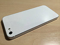 Декоративная защитная пленка для iphone 5s белый блеск, фото 1