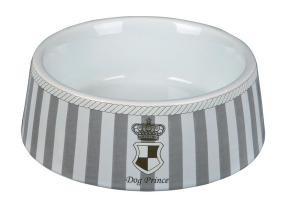 Trixie Миска для собак Prince, 1 л/ø 20 см, керамика, серый/белый