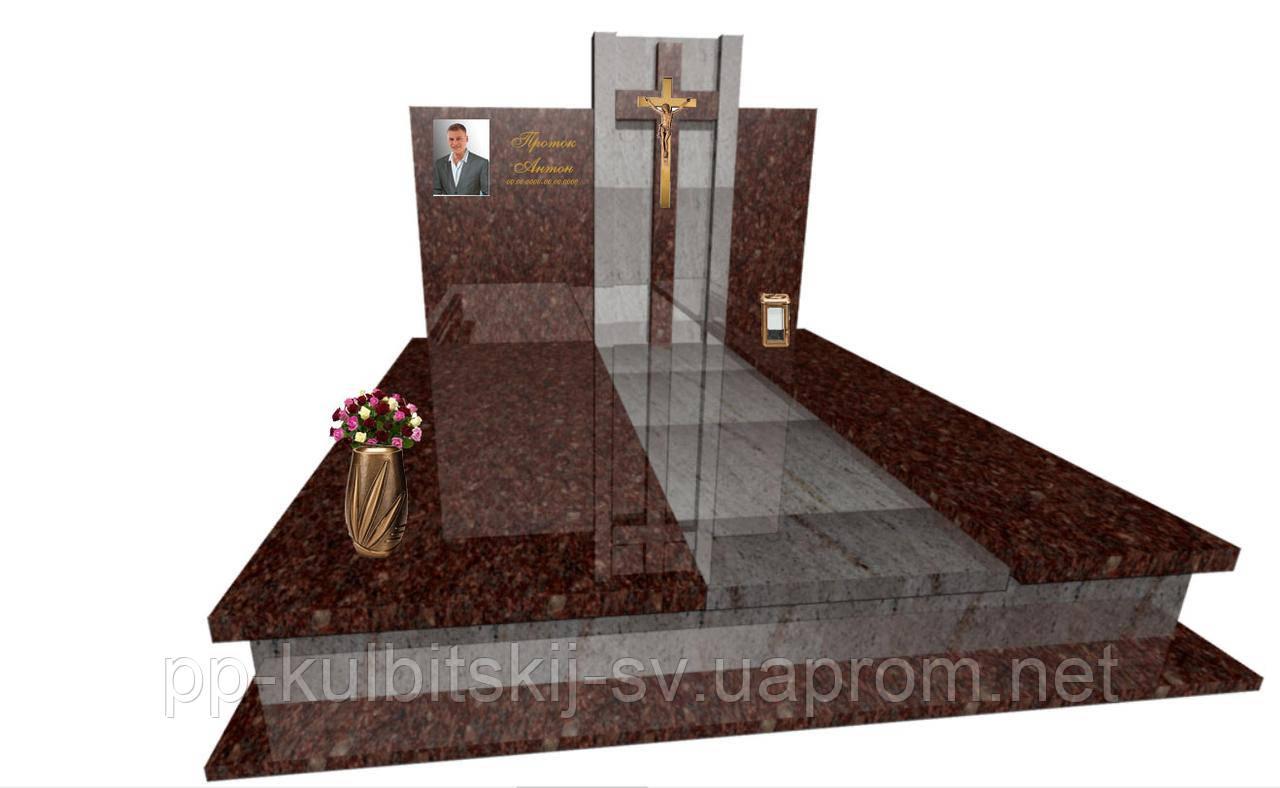 Надгробний пам'ятник з граніту подвійний F077