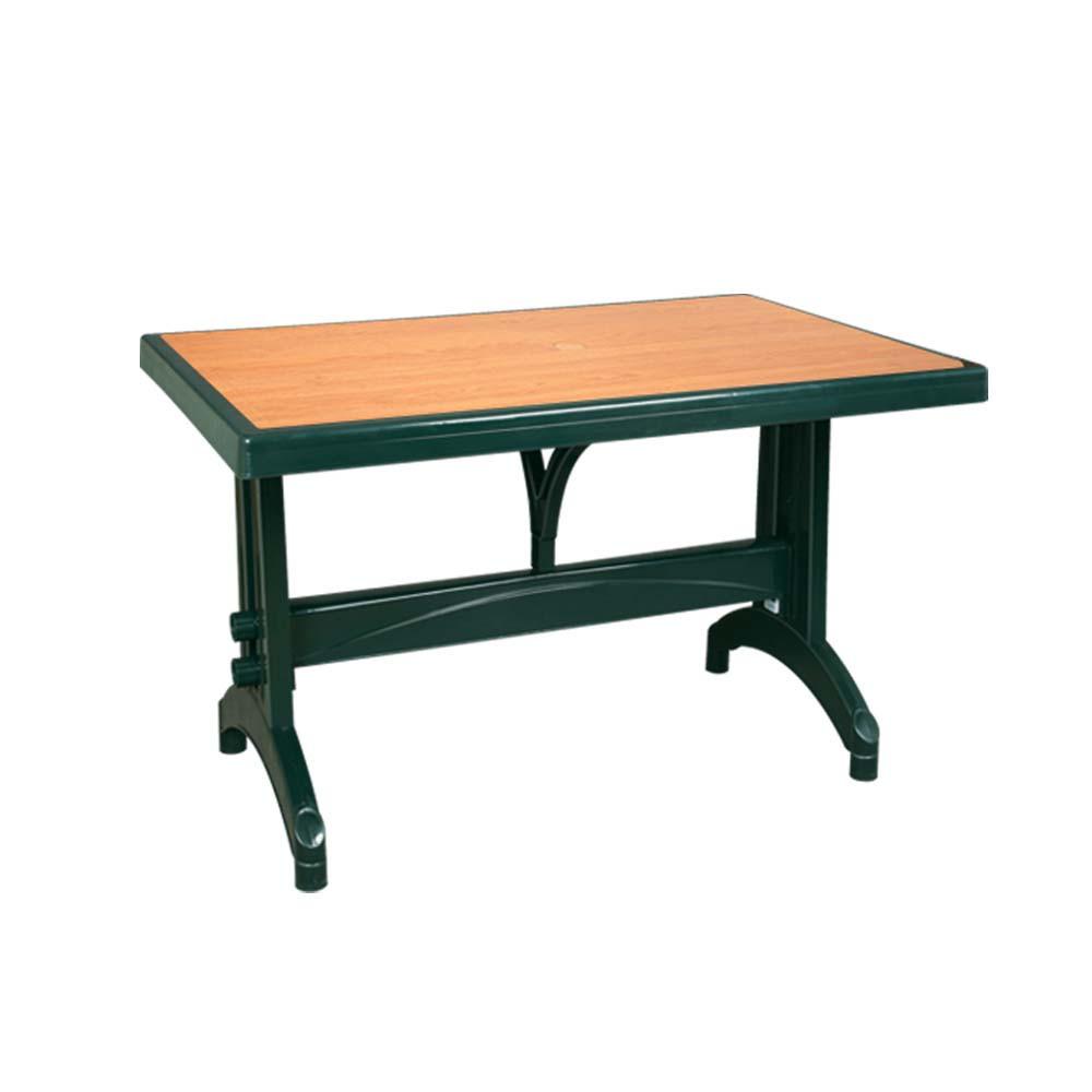 Стол с декором под дерево прямоугольный 80×140