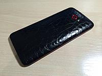 Декоративная защитная пленка для HTC Buterfly аллигатор черный, фото 1