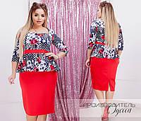 Красивое платье Батал Розалина