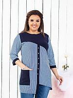 Шикарная женская блуза,размеры :54,56,58,60., фото 1