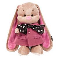 Зайка Лин в розовом пальто и шарфике, 25 см